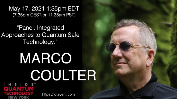Marco Coulter moderating panel on Quantum Safe Technology